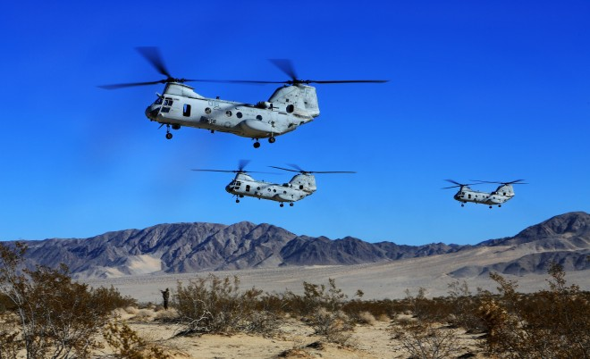 Marines Bid 'Phrog' Farewell to Last Active CH-46E Sea Knight Squadron