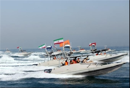 An updated photo of Revolutionary Guard Corps Navy patrol vessels. FARS News Photo