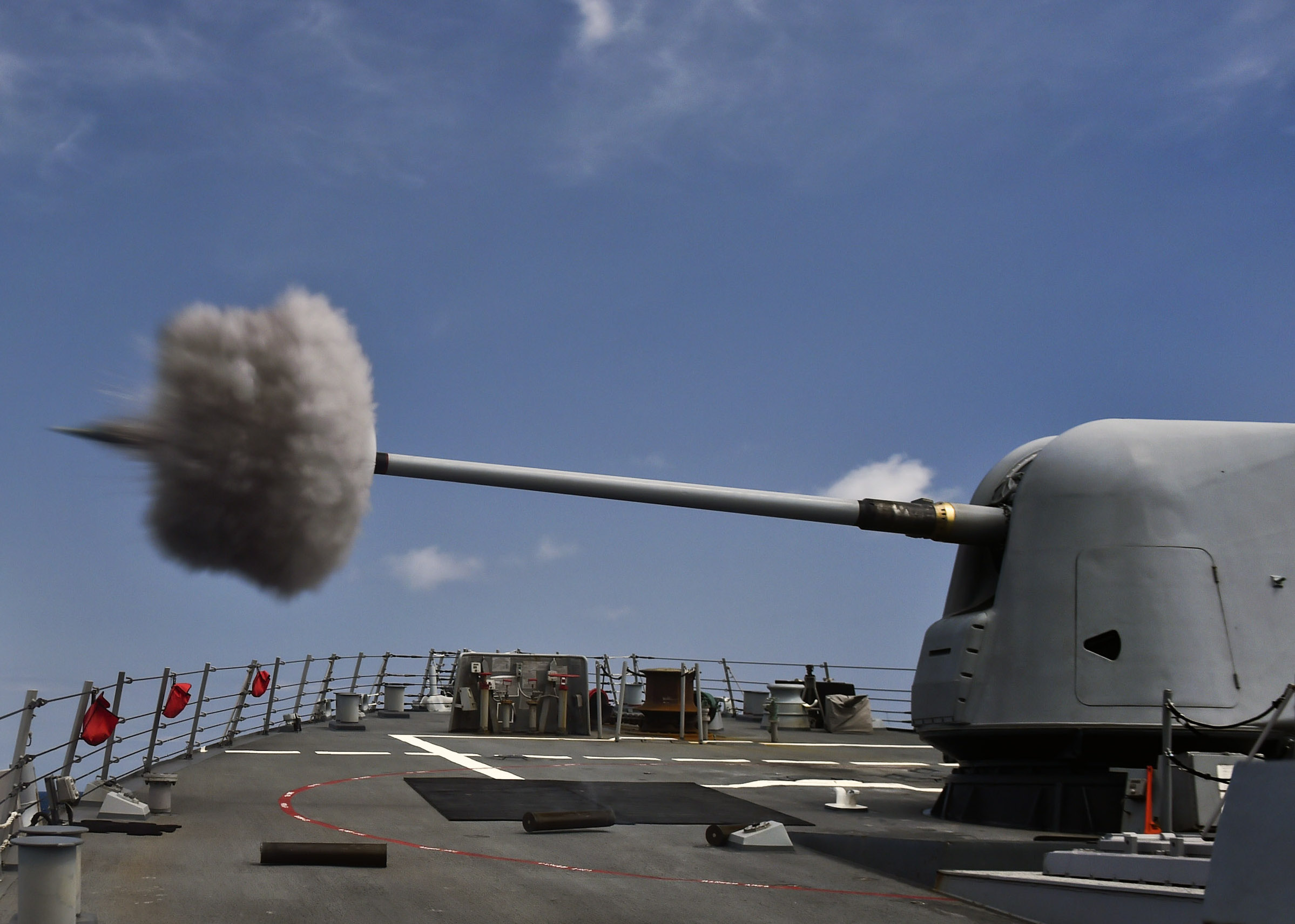 essay taking distributed lethality to the next level usni news uss porter ddg 78 fires its mk 45 5 inch lightweight gun