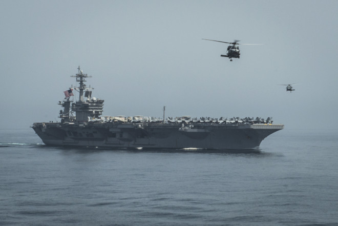 Roosevelt Strike Group Departs Gulf, 9 U.S. Warships Now Near Yemen