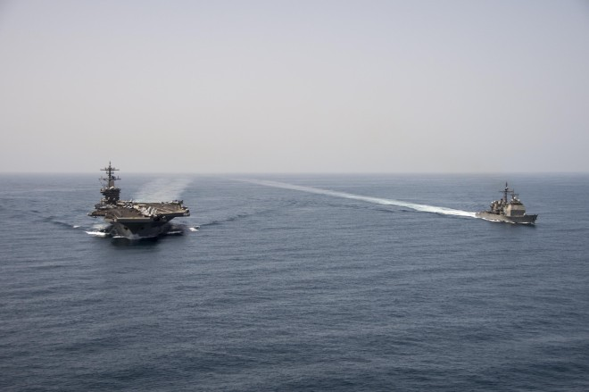 Pentagon: Iranian Convoy 'One of the Factors' in Moving U.S. Carrier Roosevelt Closer to Yemen