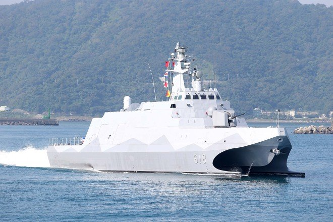 Taiwan Commissions First in Class of Stealth Guided Missile Corvette, Combat Support Ship