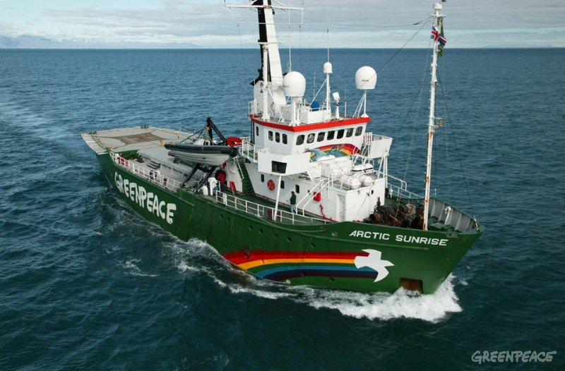 An undated photo of Greenpeace ship Arctic Sunrise. Greenpeace Photo