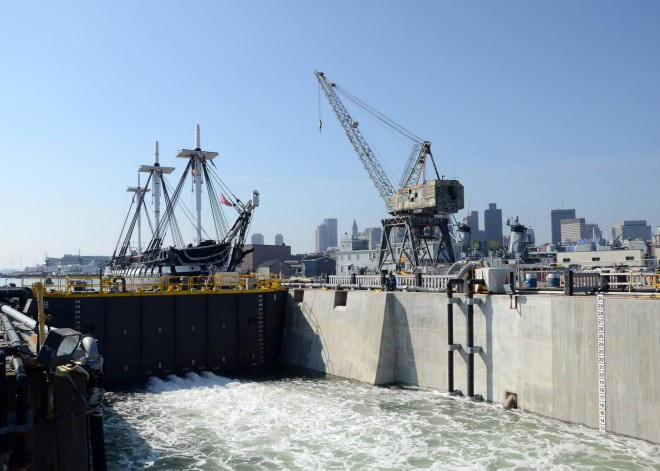 USS Constitution Enters Dry Dock for Three Years of Repairs