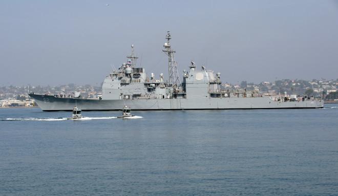 Modernized Cruiser Chancellorsville Leaving for New Homeport in Japan