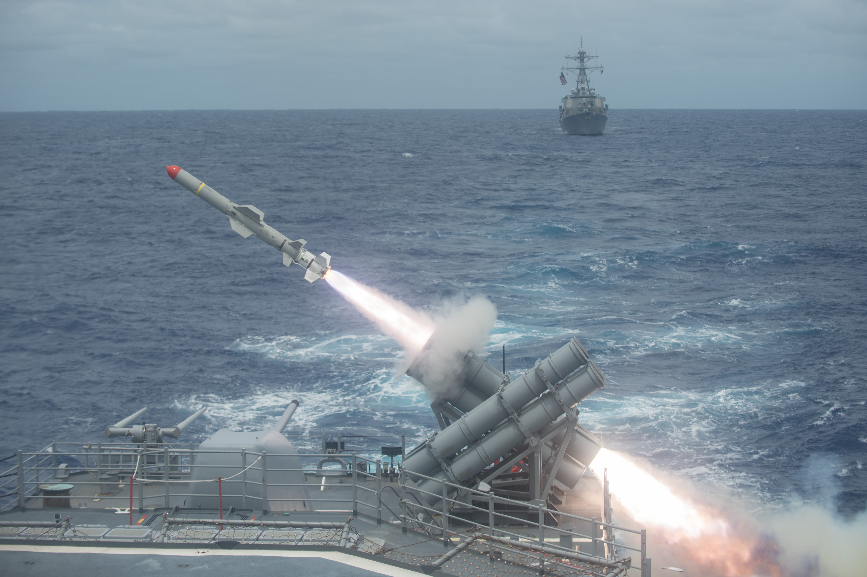 essay changing the anti ship cruise missile paradigm usni news a harpoon missile is launched from the ticonderoga class guided missile cruiser uss shiloh