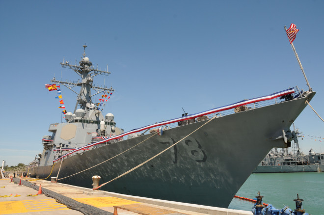BMD-Equipped Destroyer USS Porter Arrives in Rota, Spain