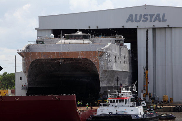 Austal USA Launches Sixth Joint High Speed Vessel