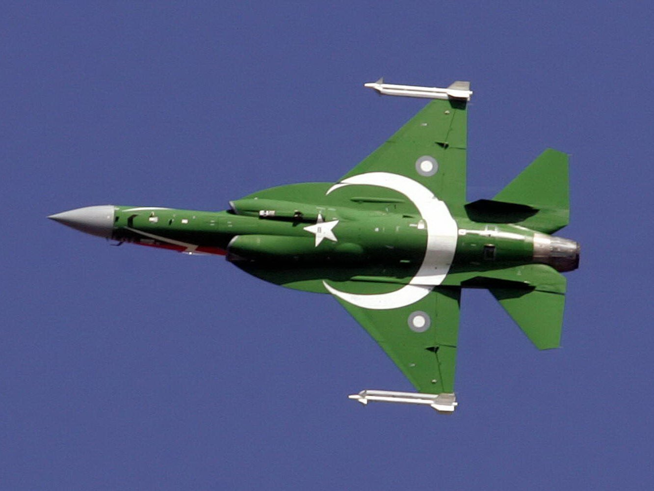 An undated photo of a JF-17, jointly built between China and Pakistan