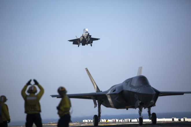 F-35B Begins Operational Testing Aboard USS Wasp