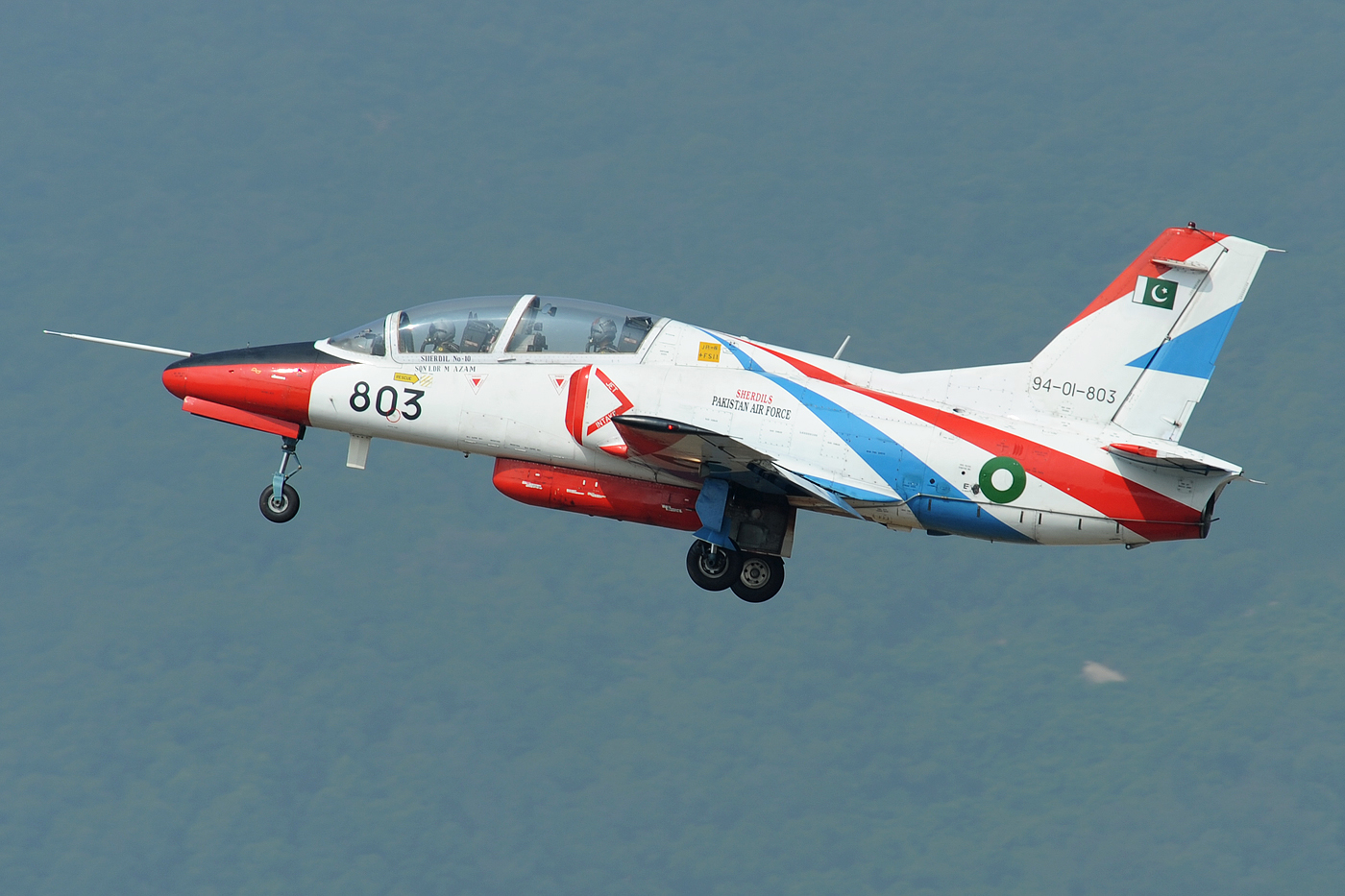 A Chinese-built K-8 jet trainer at the Zhuzhai Airshow in 2010. Photo via Wikipedia