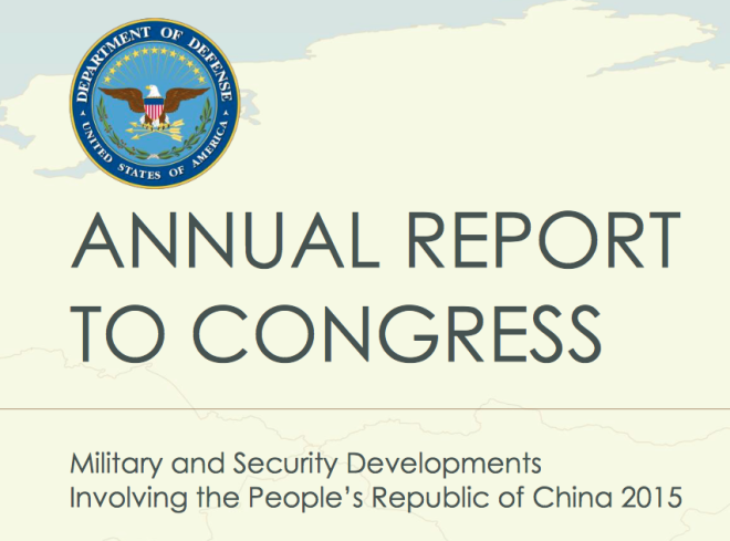 Document: Pentagon 2015 Report to Congress on China's Military Power