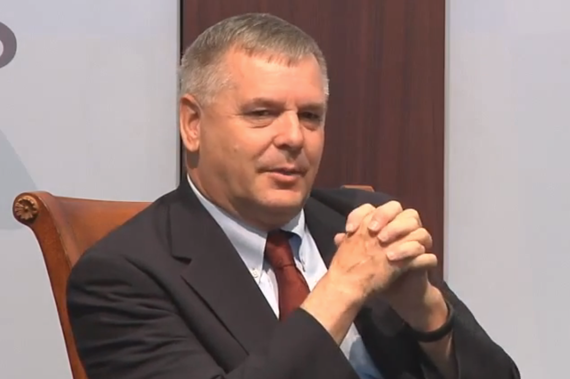 "Retired Marine Gen. James ""Hoss"" Cartwright speaking at CSIS on Monday. CSIS Screengrab"
