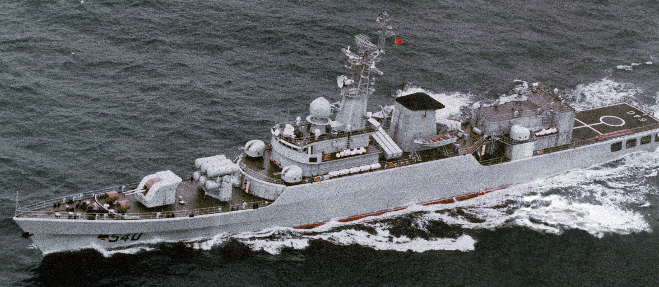 A Chinese built Type 53H frigate. DoD Photo
