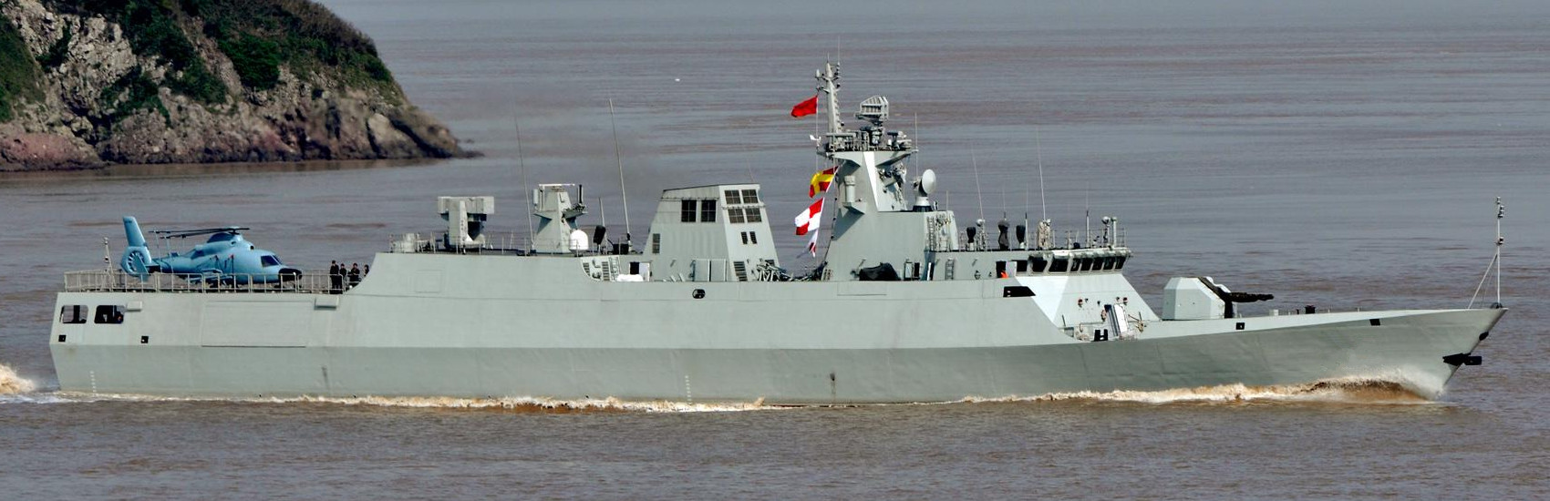 A Chinese Type 056 corvette