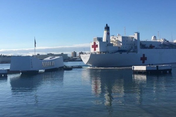 Navy: Hospital Ship Collision Did Not Damage 'USS Arizona Vessel'