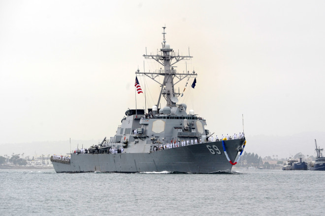 Destroyer USS Milius Returns to San Diego After 8 Month Deployment