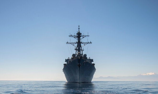 VIDEO: U.S. Navy Denies Russian Fighters Chased Off Destroyer USS Ross in Black Sea