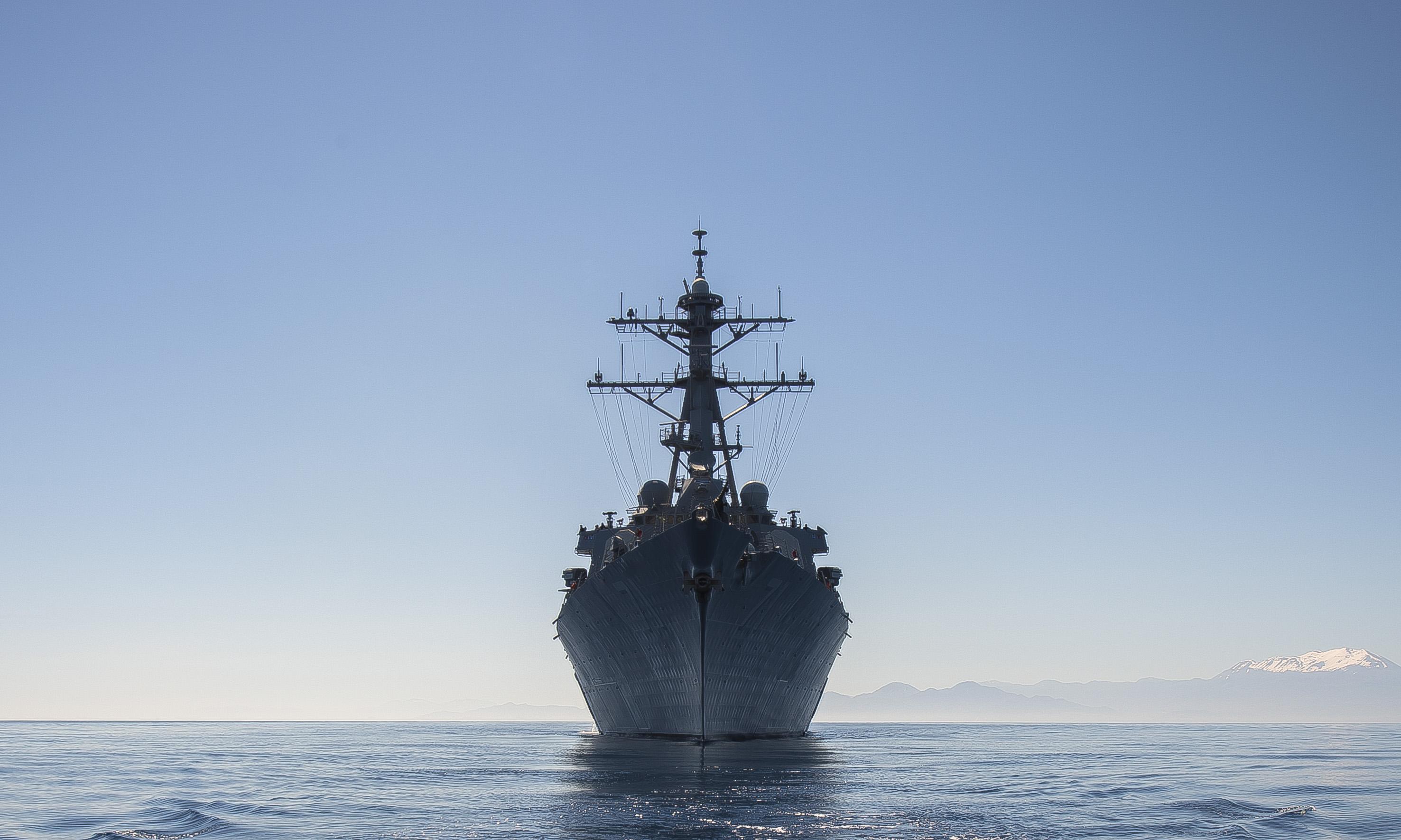 USS Ross (DDG-71) transits the Mediterranean Sea on May 4, 2015. US Navy Photo