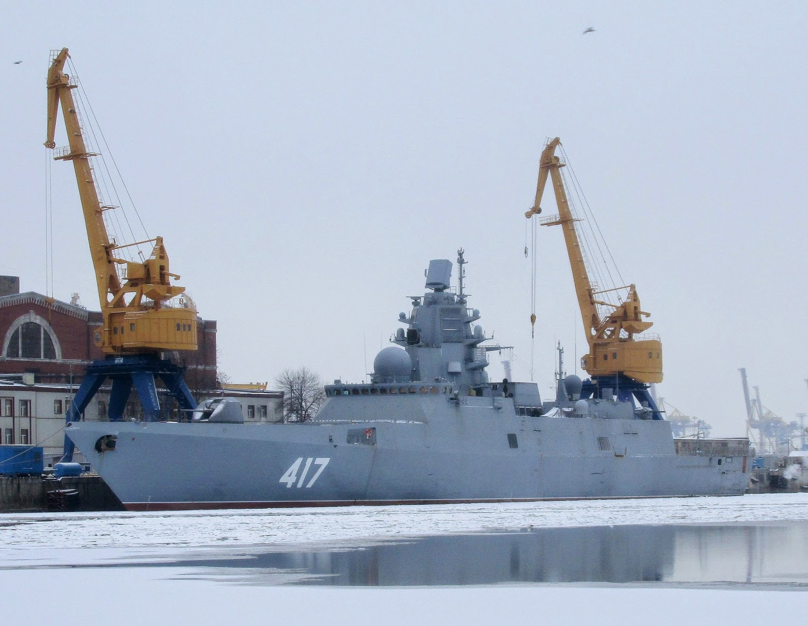 Gorshkov frigate Admiral Flota Sovetskogo Soyuza Gorshkov at Northern Shipyard. Photo via 7 Feet Beneath the Keel