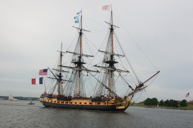 Photo Gallery: French Frigate Hermione Arrives in Baltimore