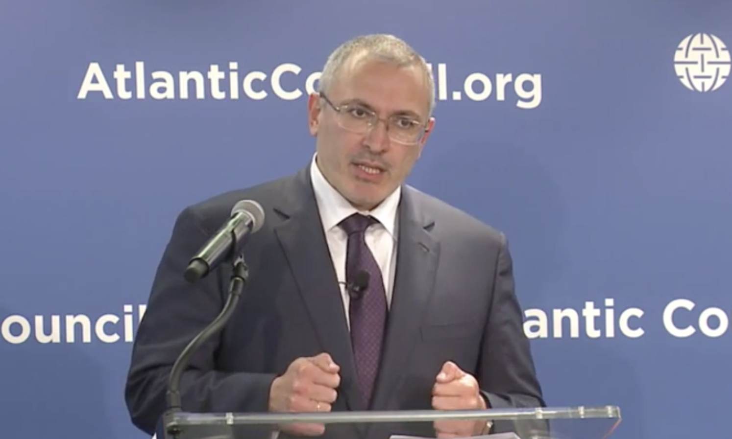 Mikhail Khodorkovsky at The Atlantic Council on June 17, 2015.