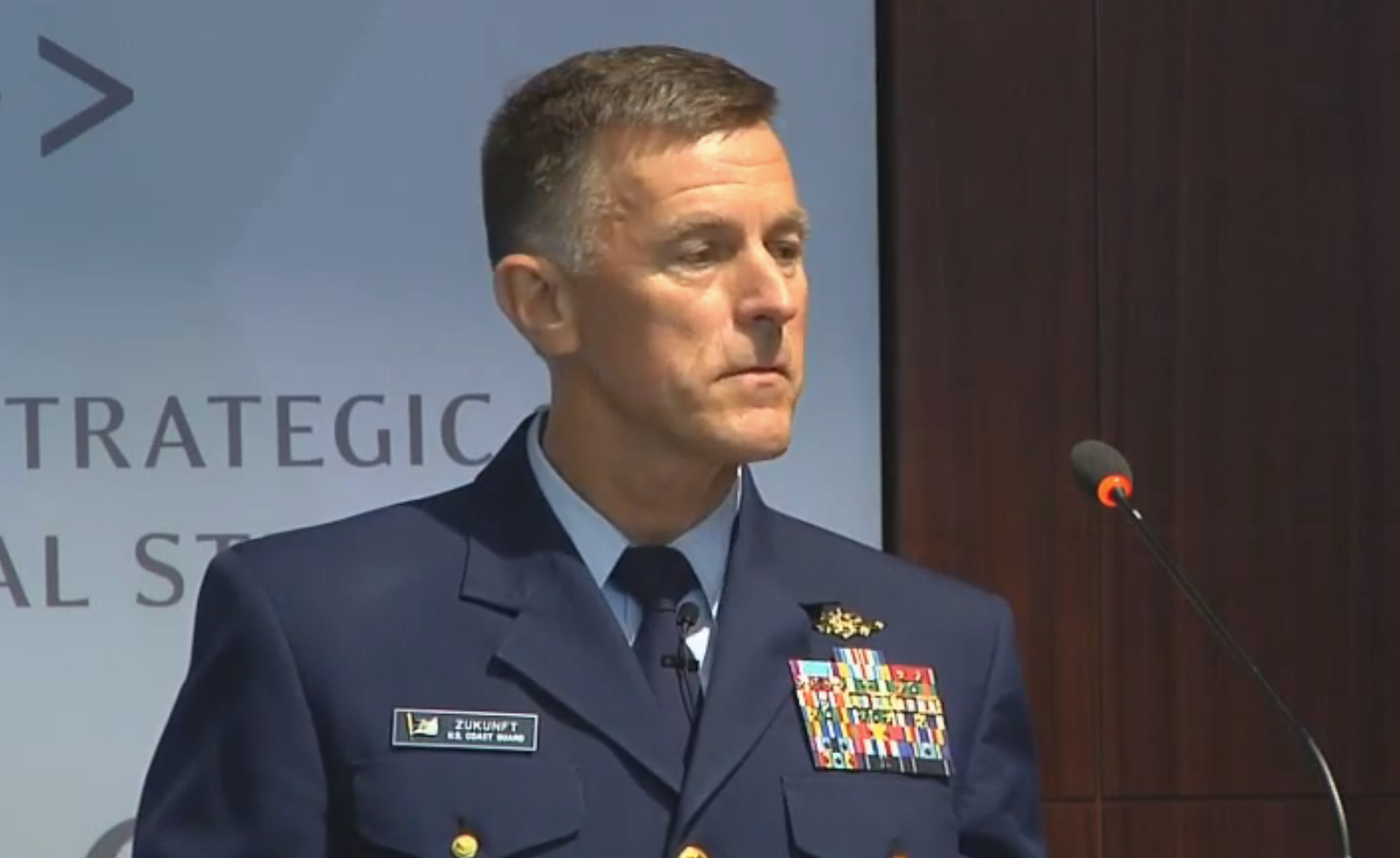 Coast Guard commandant Adm. Paul Zunkuft