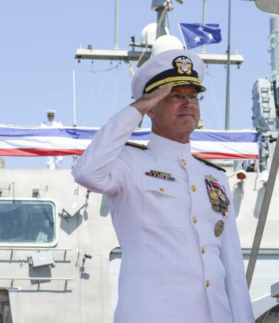 VADM Rowden Calls Naval Surface Group Western Pacific an Advocate for Ship Training Needs