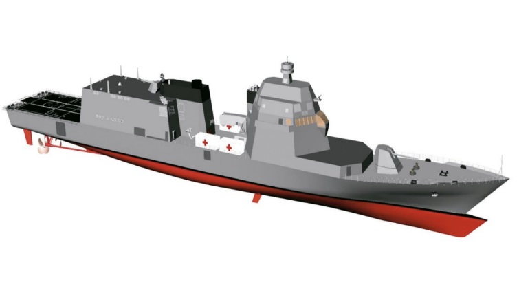An artist's concept of a proposed PPA. Italian Navy Image