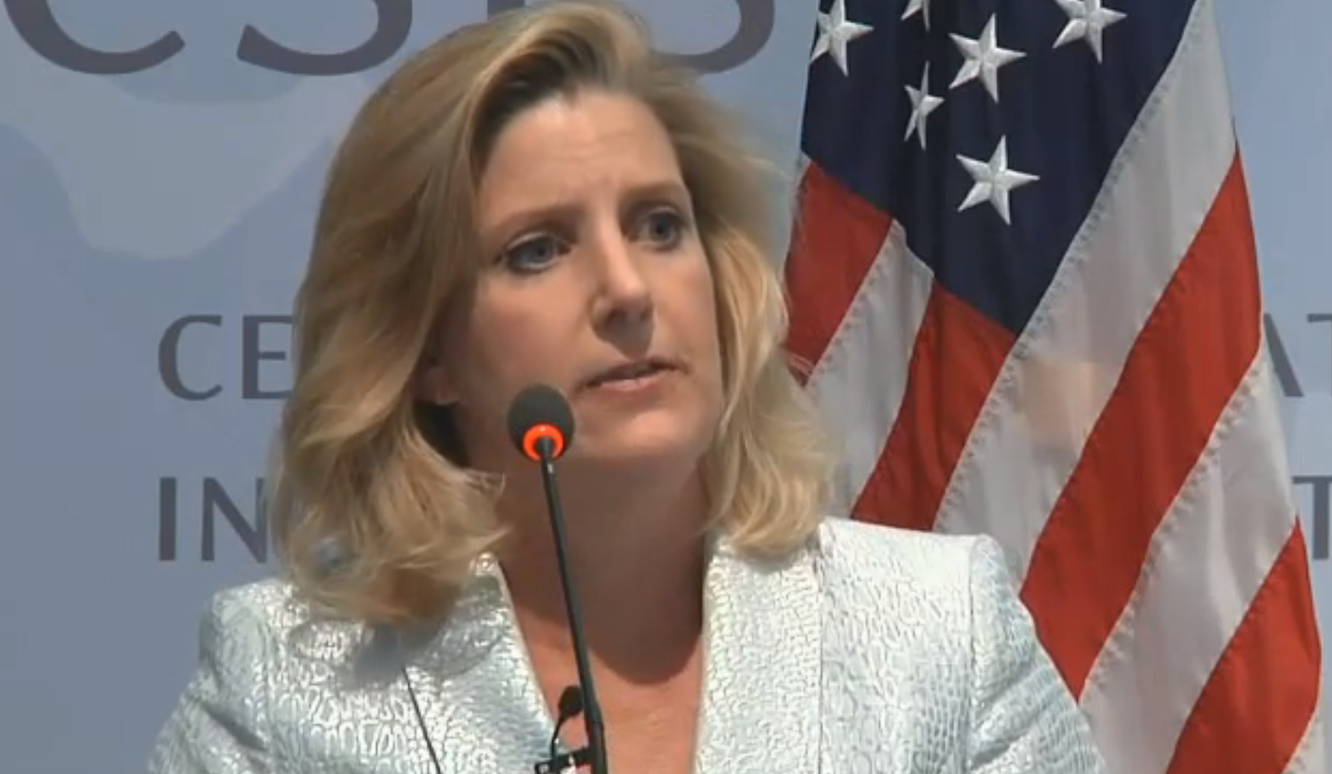 Under Secretary of Defense for Policy on July 13, 2015 at the Center for Strategic and International Studies. CSIS Screengrab