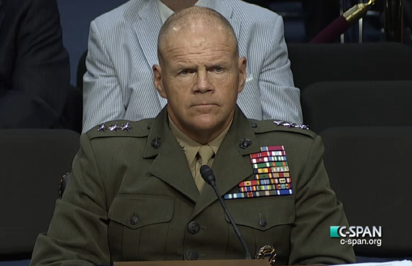 Lt. Gen. Robert Neller during his July 23, 2015 confirmation hearing. C-SPAN Image.