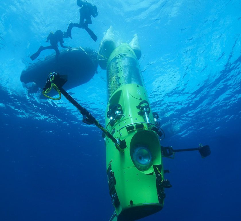 Deepsea Challenger in 2012. National Geographic Photo