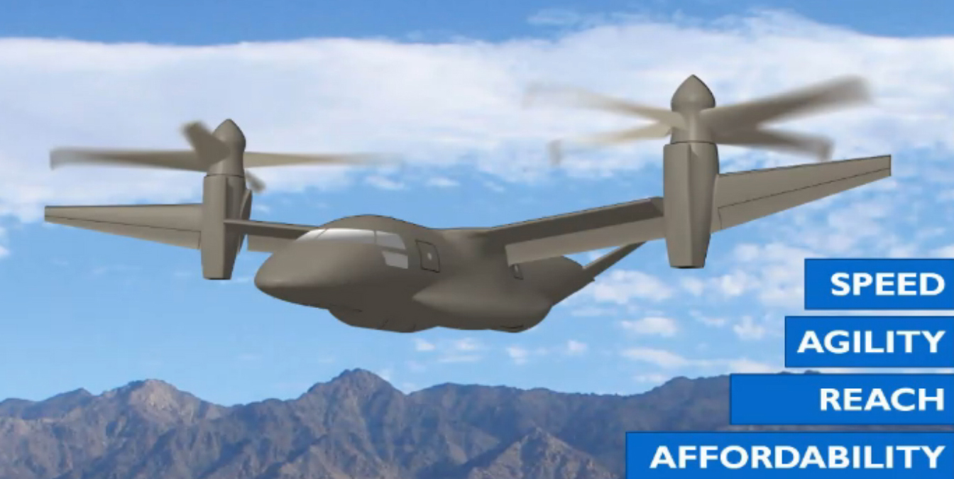 AVX Aircraft Company, Bell Helicopter, Sikorsky-Boeing Team, and Karem Aircraft all promise to build a Future Vertical Lift aircraft that is faster, more agile, can travel father and cost less than today's helicopters. Image courtesy of Karem Aircraft via U.S. Army.