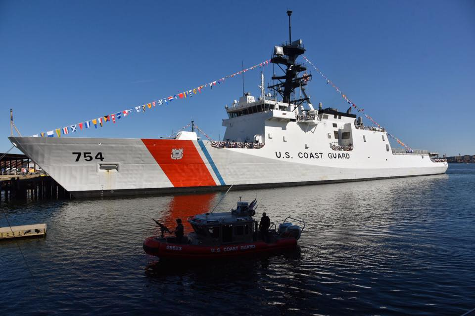 Coast Guard Cutter James, US Coast Guard Base Boston prior to the commissioning ceremony. US Coast Guard Photo