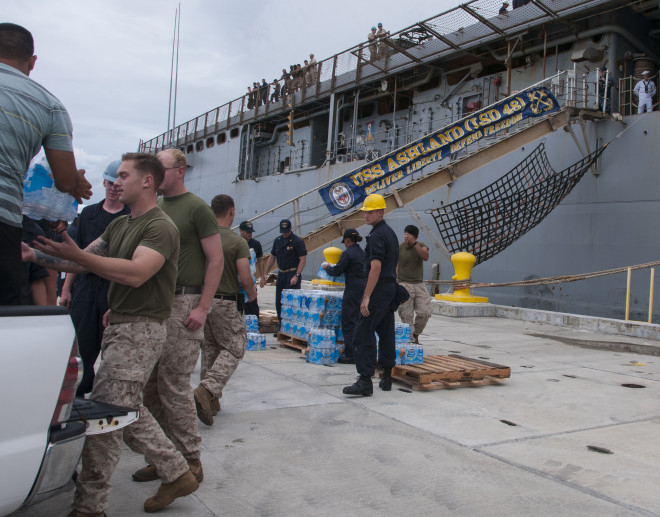 U.S. Scrambles Amphib USS Ashland, 31st MEU Marines to Saipan for FEMA Typhoon Relief Mission