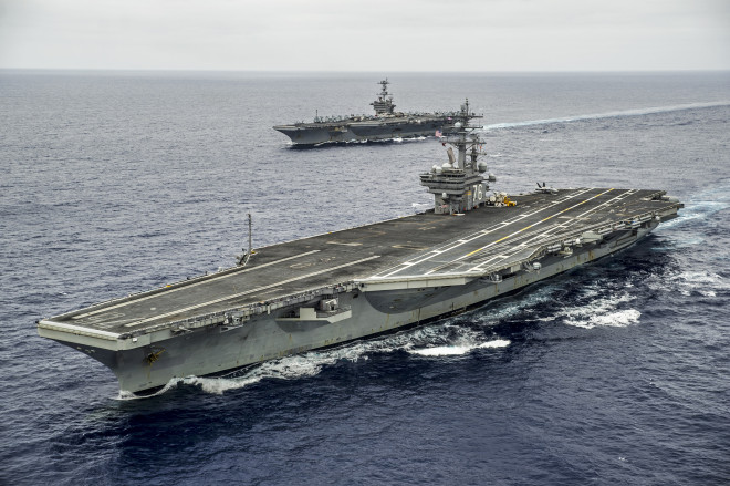 Carrier USS Ronald Reagan Leaves for Japan Starting Second Phase of 3-Carrier Crew Swap