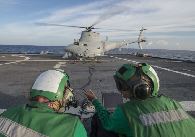 LCS Fort Worth Integrates Fire Scout UAV, RHIBs Into Bilateral Exercises For First Time