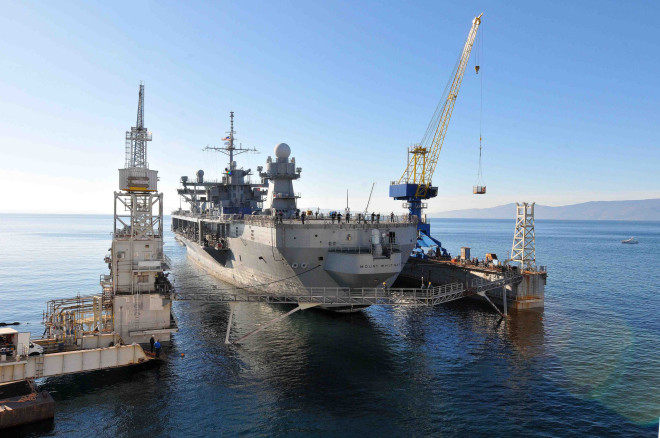 Command Ship USS Mount Whitney Suffers 45 Minute Pier Side Fire, No Injures Reported