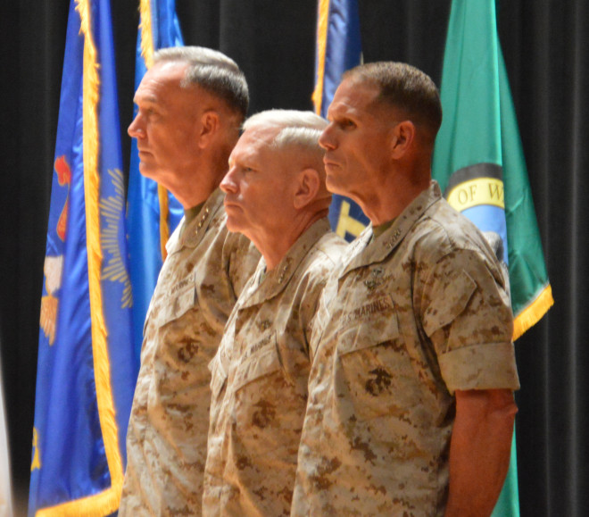 Glueck, Walsh Reflect On Combat Development Challenges During Change Of Command