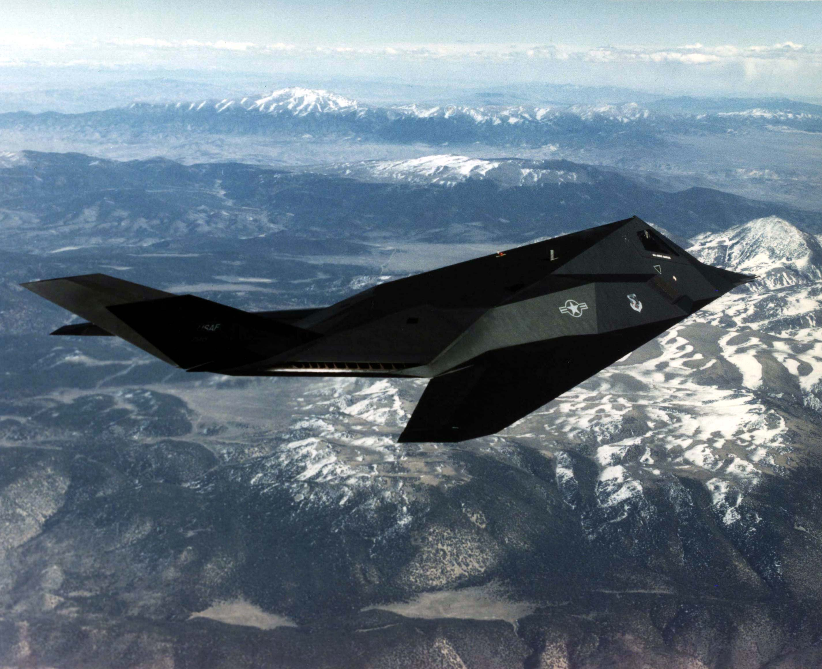 F-117A Nighthawk in 1996. US Air Force Photo