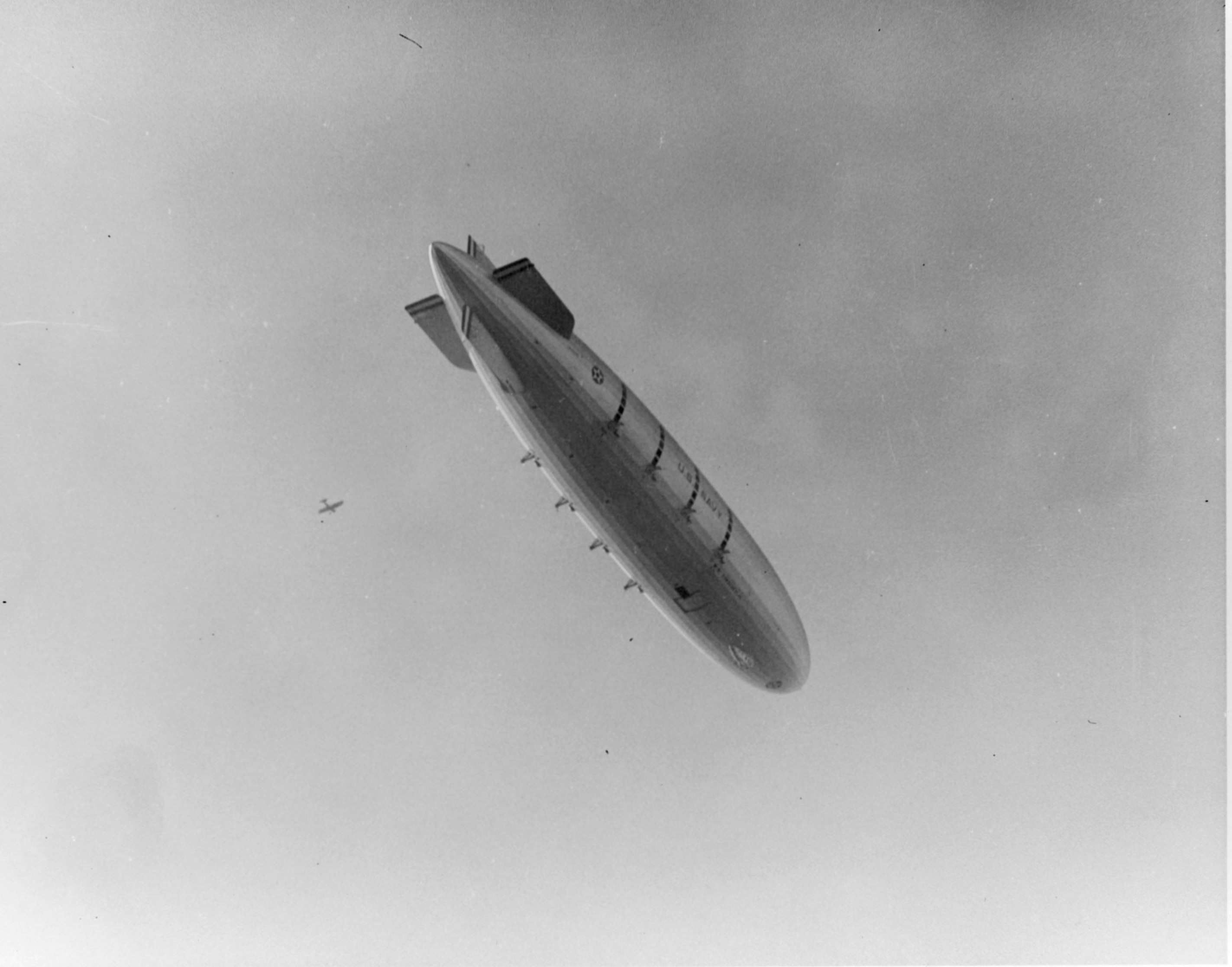 USS Macon (ZRS-5) over San Diego Harbor on Feb. 9, 1934.