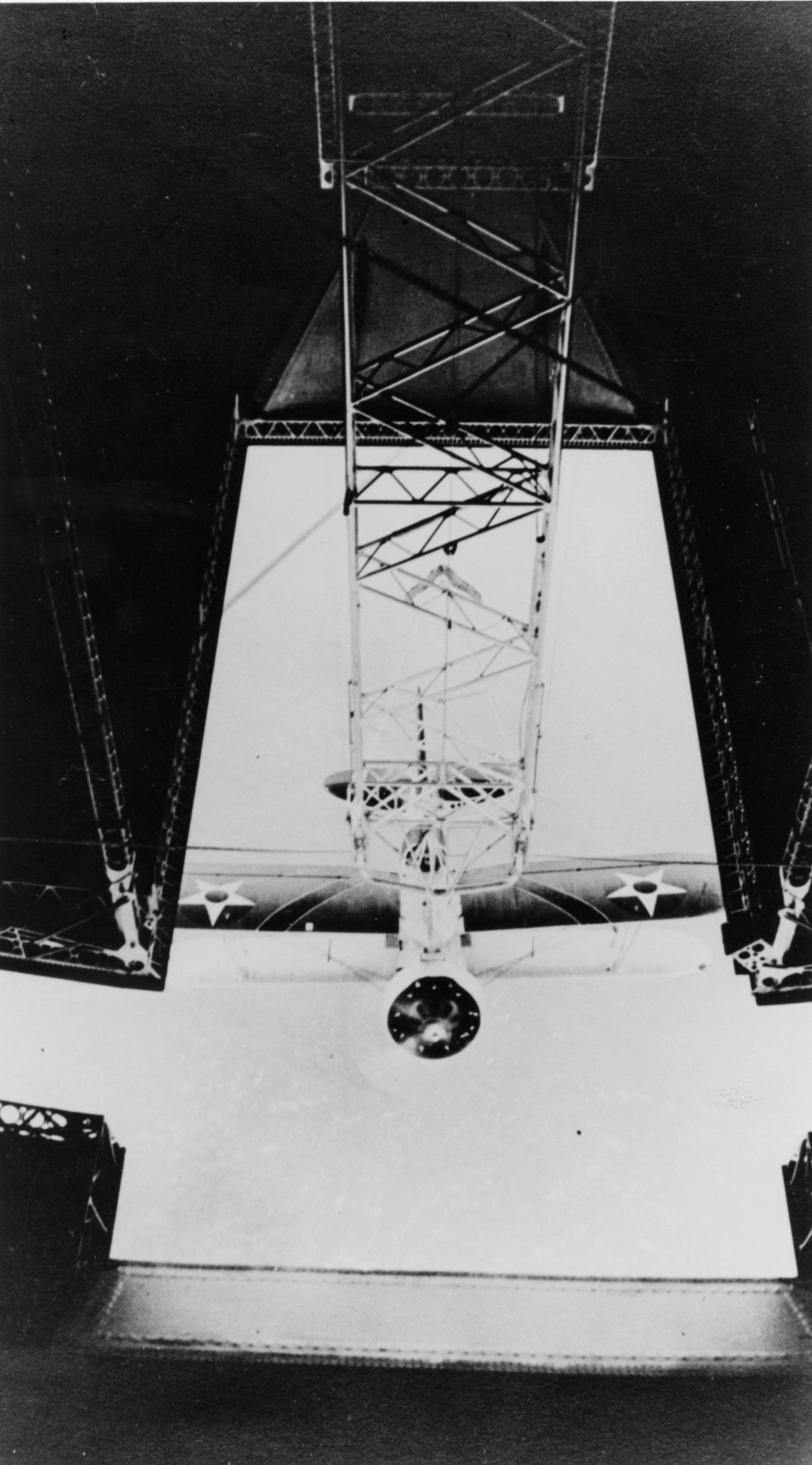 A Curtiss F9C-2 Sparrowhawk recovery on USS Macon (ZRS-5) in 1934.