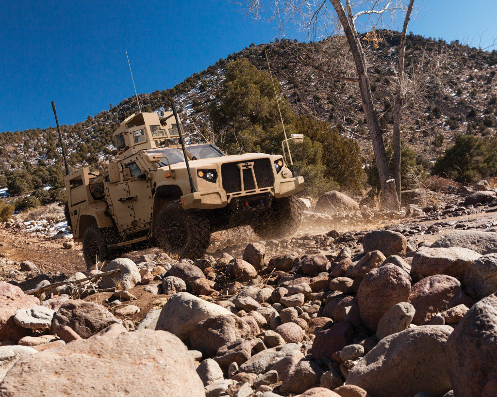 Oshkosh Defense L-ATV which won the competition for the JLTV for the U.S. Army and Marine Corps. Oshkosh Photo