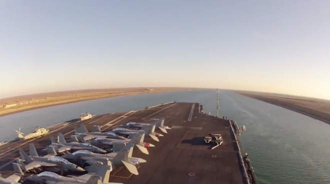 Video: USS Theodore Roosevelt Transits the Suez Canal