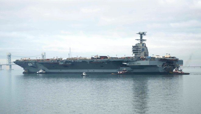 Pentagon Orders Shock Test for Carrier Gerald Ford, Could Delay First Deployment