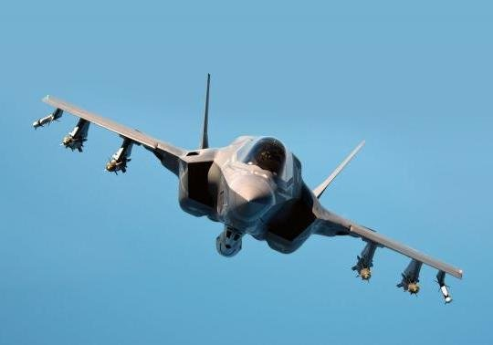 Lockheed Martin test pilot Billie Flynn puts F-35B test aircraft BF-02 into pre-contact position behind a US Air Force KC-135 tanker on the range near NAS Patuxent River, Maryland on 5 September 2014. Photo courtesy F-35 Lightning II Program Office.