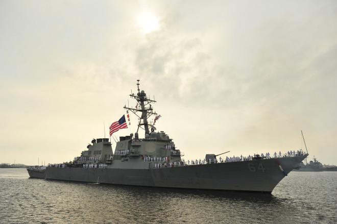 Last Rota-bound Destroyer USS Carney Leaves Mayport