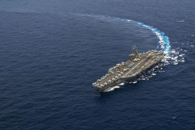Carrier USS Ronald Reagan Chops Into 7th Fleet