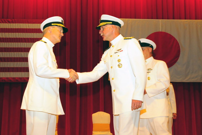 Outgoing 7th Fleet Commander Challenges Successor, Aucoin, to Continue Momentum