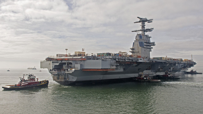 Ford Carrier Suffers 'Slight Deterioration' in Testing Schedule, Could Delay Sea Trials 2 Months